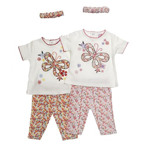 DITSY FLOWER PRINT BABY GIRLS SUMMER SET